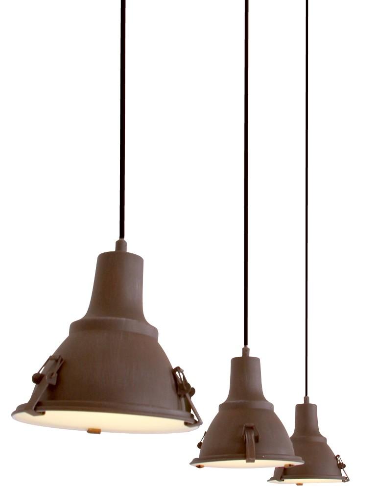 Favoriete Hanglamp 3-lichts Parade bruin - Eviverlichting JF09