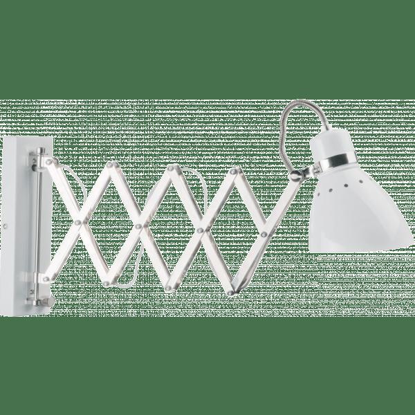 Uitgelezene Schaarlamp wand Spring wit - Eviverlichting UM-67