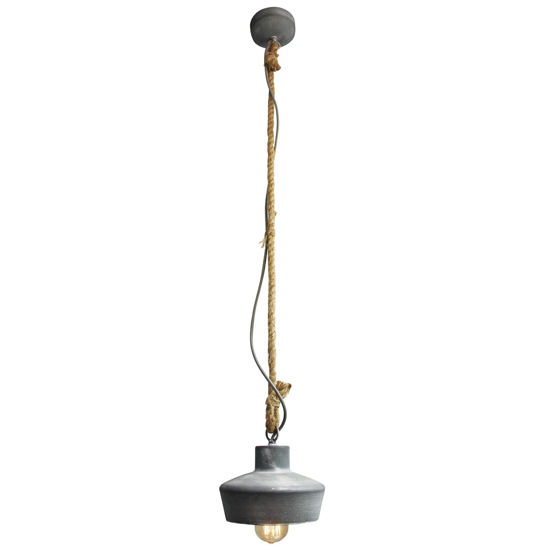 Hanglamp Met Touw.Hanglamp Davy Betongrijs Touw Eviverlichting